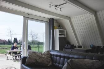 """The """"Tipi"""", a cozy A-frame cottage in Belgium. 