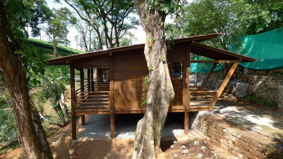 Tea plantation guest cabins Habitats Plus Small House Bliss