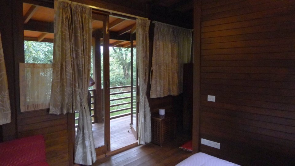 The Arcadia, a tropical resort cabin at a tea plantation in India. The studio cabin is roughly 270 sq ft. | www.facebook.com/SmallHouseBliss