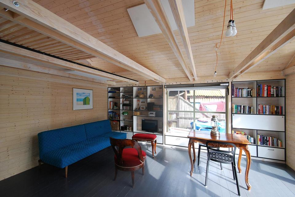An old float house moored along a Prague riverbank was given a contemporary redesign.   www.facebook.com/SmallHouseBliss
