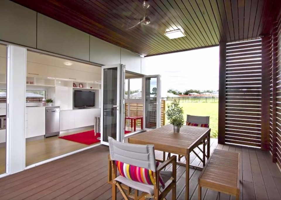 The Milan, a prefab modular home based on a standard shipping container, has 1 bedroom in 320 sqft. | www.facebook.com/SmallHouseBliss