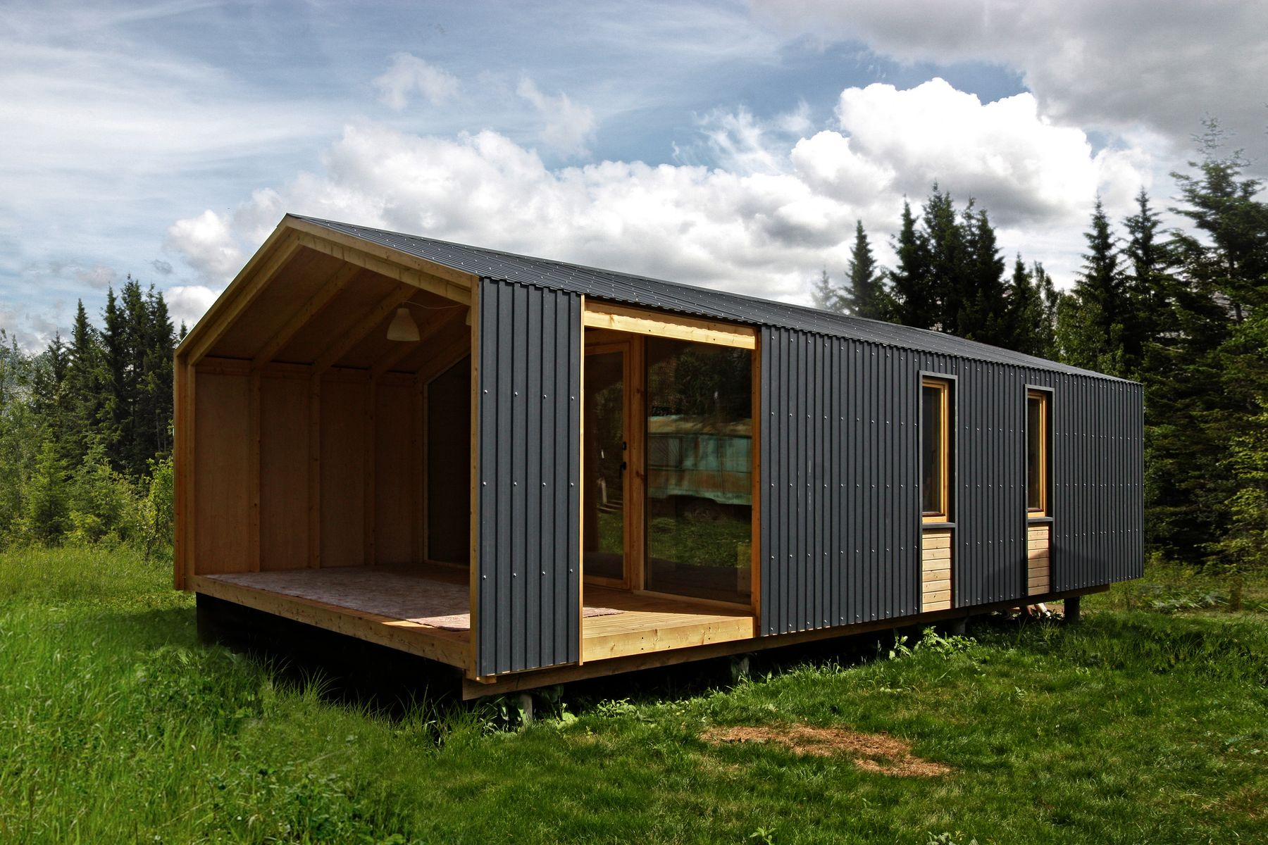 Gallery dubldom a modular tiny house from russia bio for Small house architects