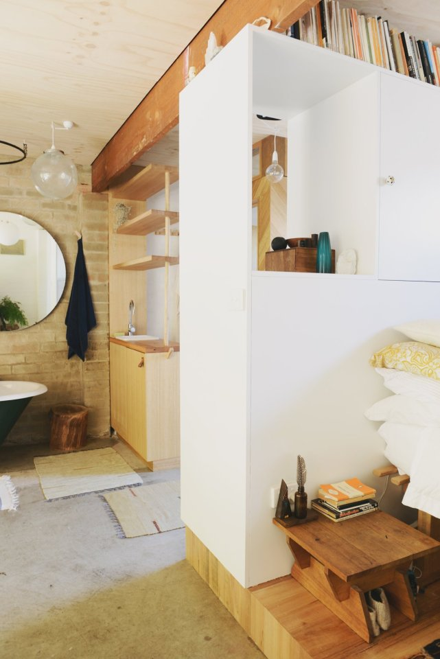 Gallery studio living in a converted garage hearth for Garage studio apartment