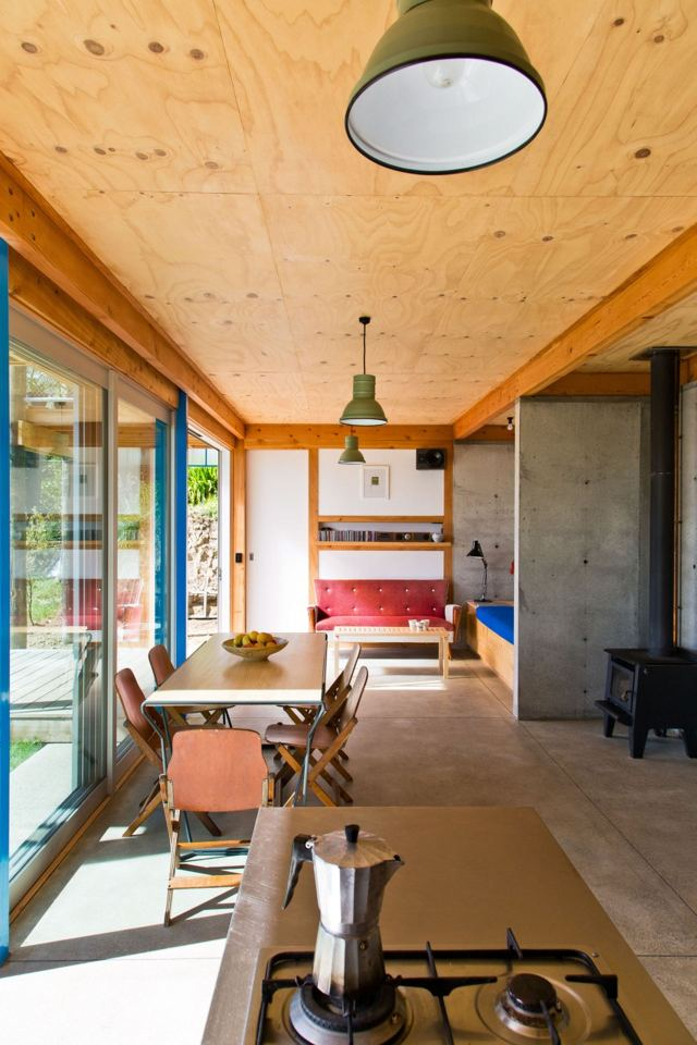 The DOGBOX, a small affordable house designed and built by three recent New Zealand architecture grads. It has 2 bedrooms in 947 sq ft.   www.facebook.com/SmallHouseBliss