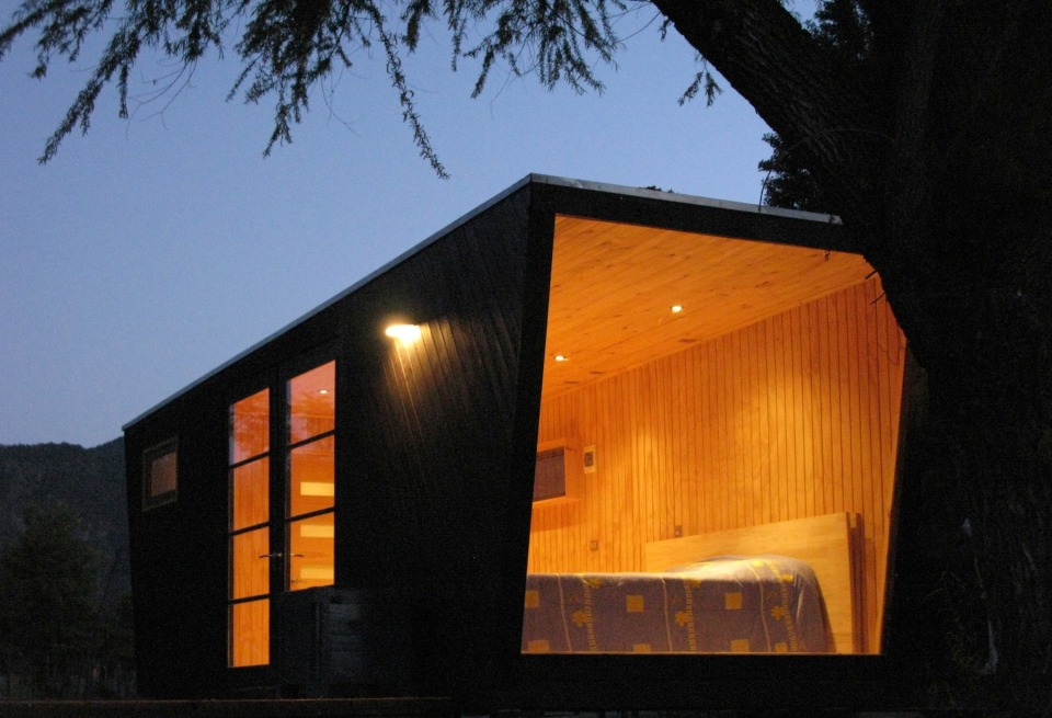 Refugio, a tiny prefab dwelling with a 226 sq ft studio floor plan. | www.facebook.com/SmallHouseBliss