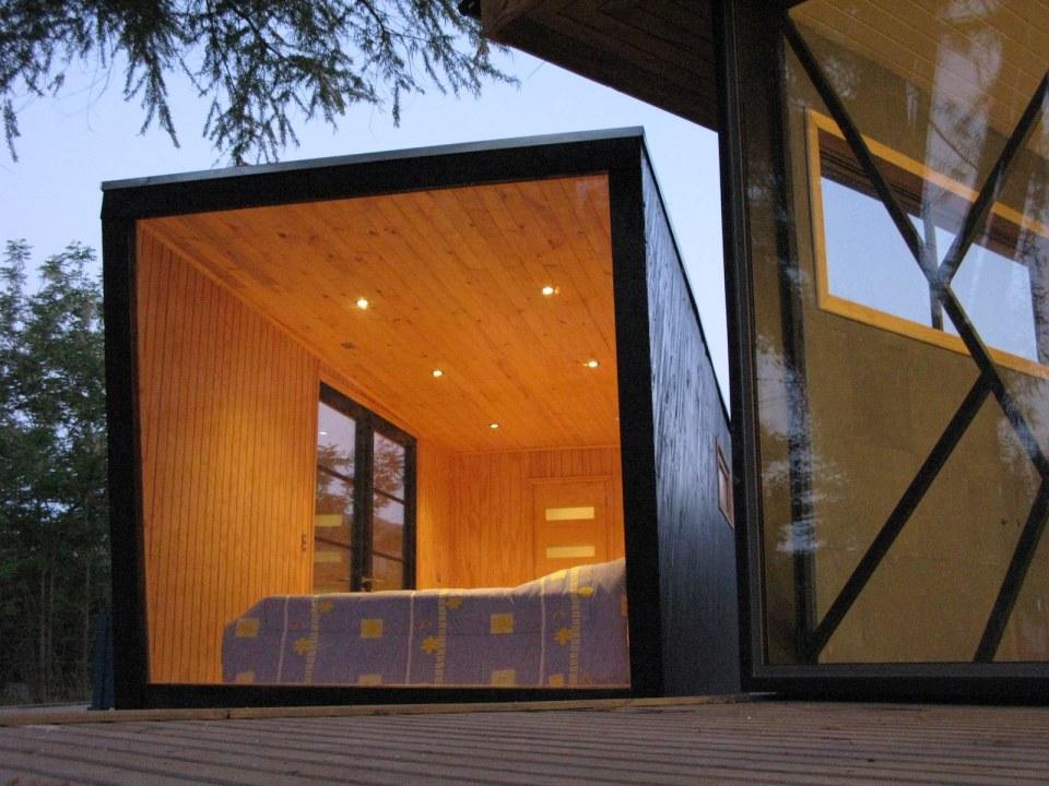Refugio, a tiny prefab dwelling with a 226 sq ft studio floor plan.   www.facebook.com/SmallHouseBliss