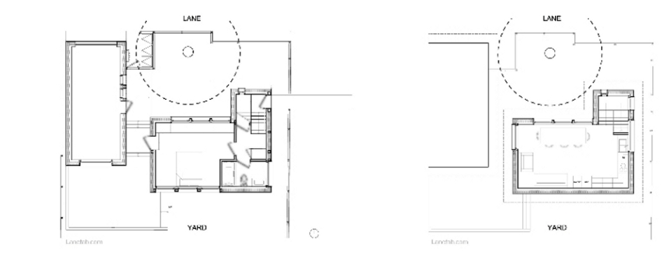 Magnolia Tree Lane House, a stylish new laneway house, has a reverse floor plan with 1 bedroom in 670 sq ft.   www.facebook.com/SmallHouseBliss