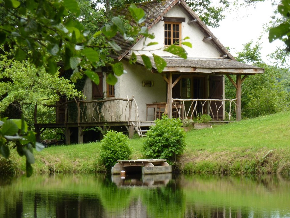 The secluded off-grid Poacher's Cabin in France. Once an old shack, it was rebuilt in an artfully rustic style. | www.facebook.com/SmallHouseBliss
