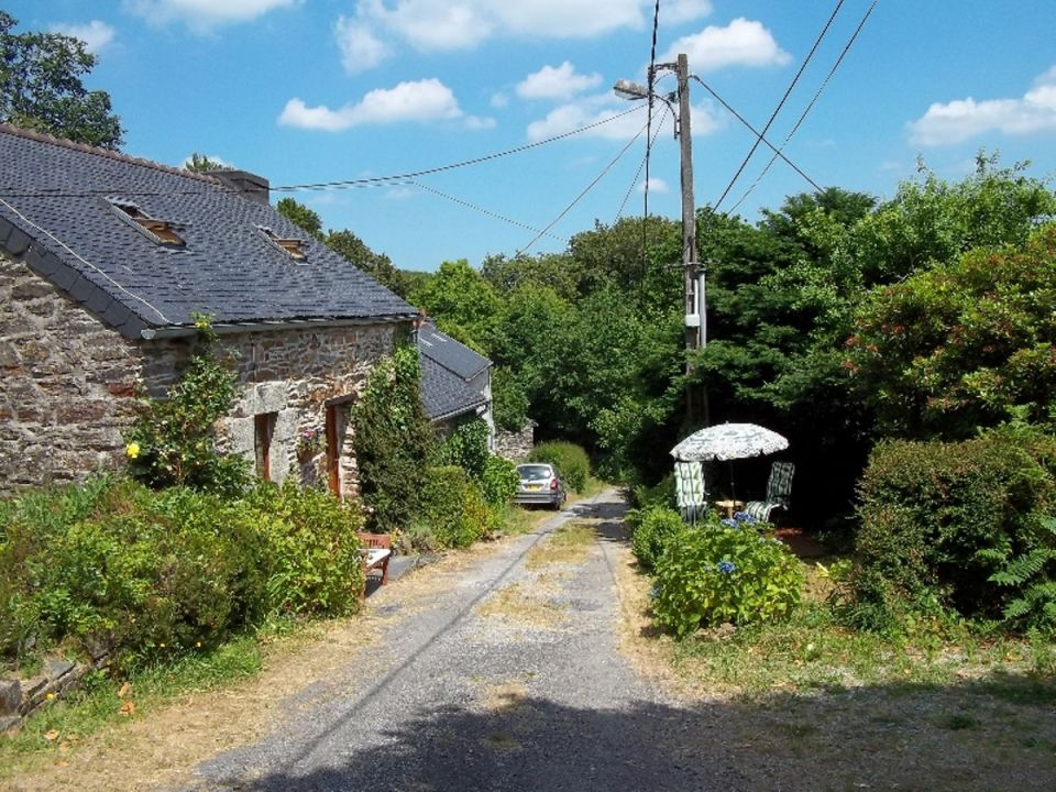 This quaint stone cottage is located in a small hamlet in Brittany, France. | www.facebook.com/SmallHouseBliss