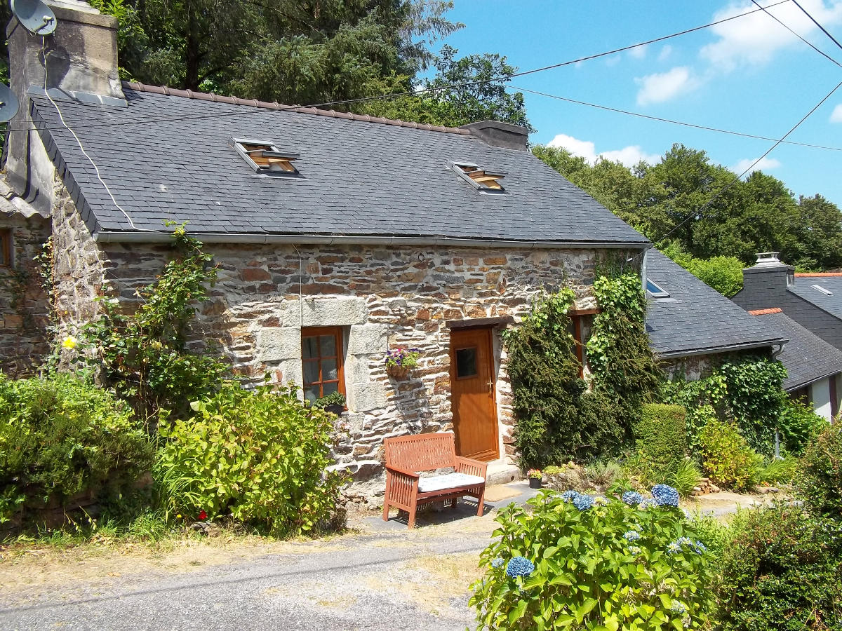 This quaint stone cottage is located in a small hamlet in Brittany, France.  |
