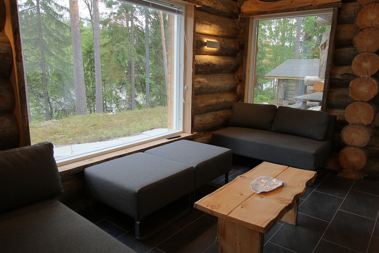 1280 X 853 In A Lakeside Log Cabin