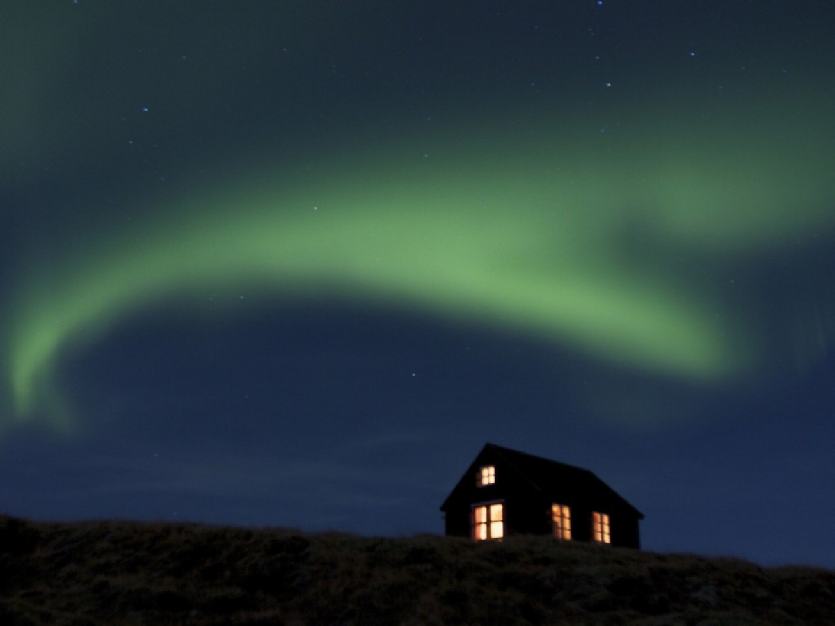 A Tiny Icelandic Cabin Under The Northern Lights Maja