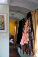 """Mevy"", a Victorian-era train carriage converted into a self-contained two bedroom vacation rental suite. 