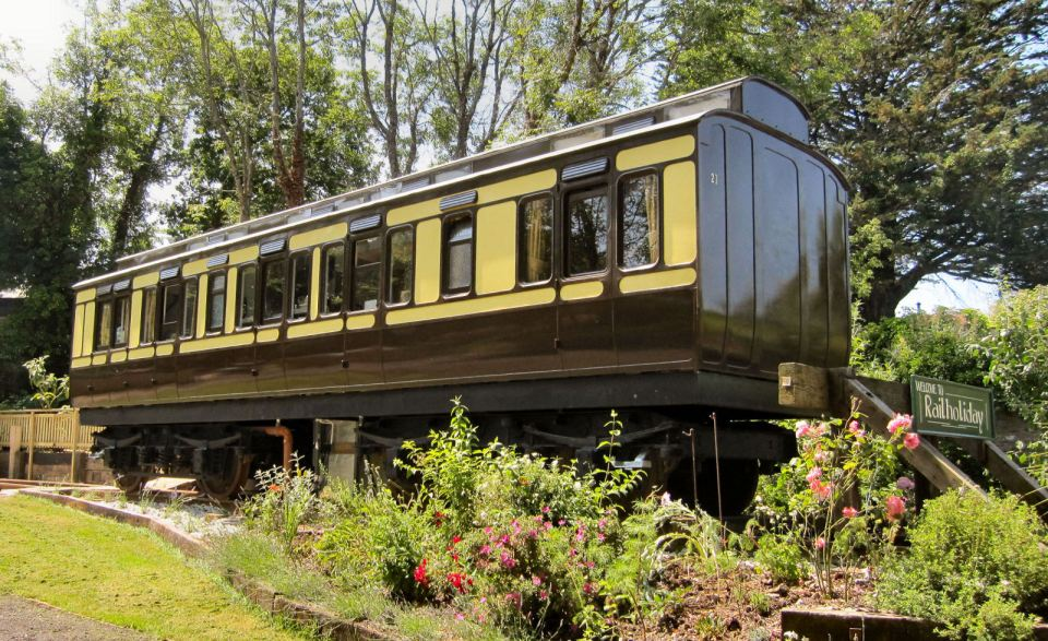 """""""Mevy"""", a Victorian-era train carriage converted into a self-contained two bedroom vacation rental suite. 