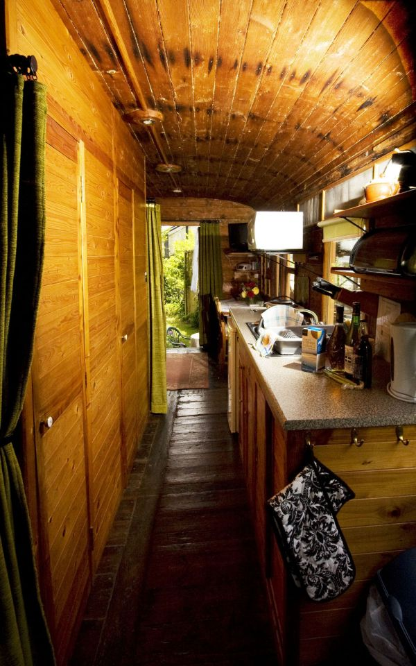 The Old Luggage Van, a Victorian-era railcar converted into a self-contained one bedroom vacation rental suite. | www.facebook.com/SmallHouseBliss