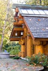 """""""The Totems"""" is a small log cabin with an almost mystical quality. It has 400 sq ft plus a sleeping loft. 