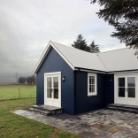 A small traditionally-styled Scottish house by modular builder The Wee House Company. This model has one bedroom in 431 sq ft. | www.facebook.com/SmallHouseBliss