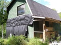 A dumpy old house was transformed into a family's ski cabin in Vermont's Green Mountains. It now has one bedroom and a sleeping loft in 850 sq ft.   www.facebook.com/SmallHouseBliss