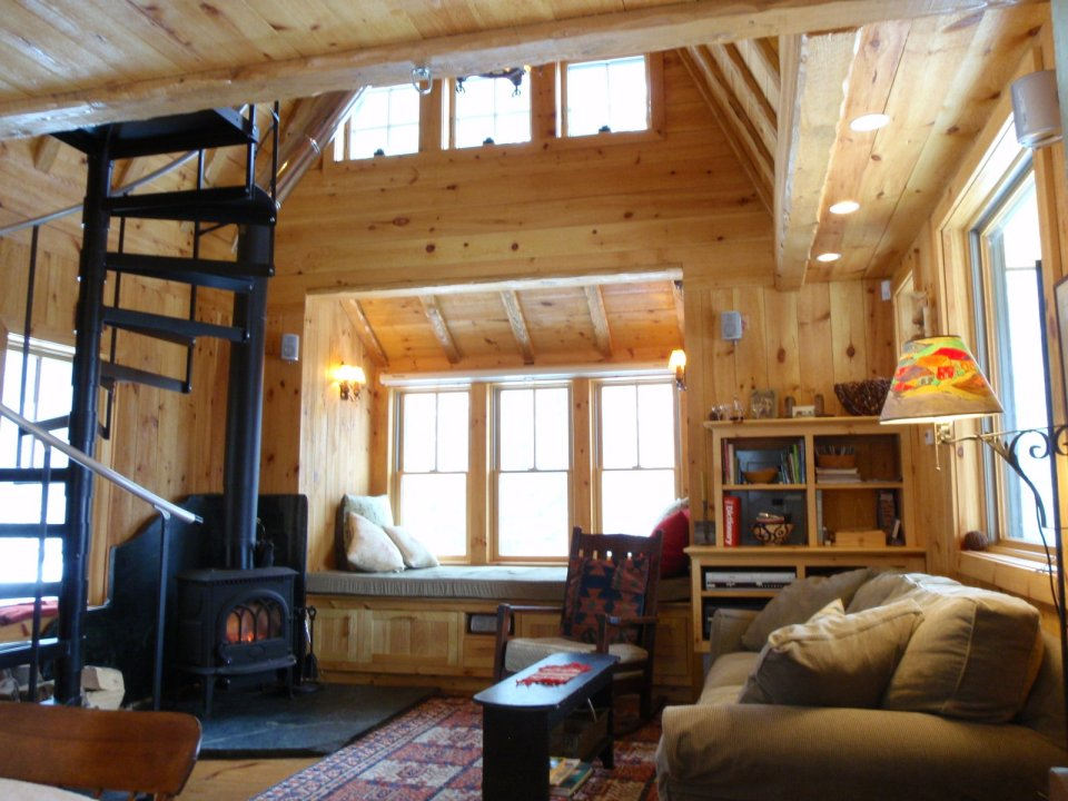 Vermont mountain cabin young ideas small house bliss for Cabin loft bedroom ideas