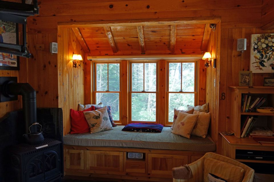 A dumpy old house was transformed into a family's ski cabin in Vermont's Green Mountains. It now has one bedroom and a sleeping loft in 850 sq ft. | www.facebook.com/SmallHouseBliss