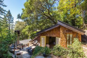 "The ""Cubby"", designed by architect Bernard Maybeck, started out as a garage and was later expanded into an eclectic 724 sq ft cottage with one bedroom. 