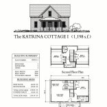 """This traditional """"Katrina Cottage"""" design has 3 bedrooms in 1,198 sq ft. 