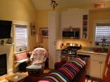 With a ground-floor bedroom, this tiny cottage on the Oregon Coast supports single-level living. It has a 416 sq ft main level plus a sleeping loft. | www.facebook.com/SmallHouseBliss