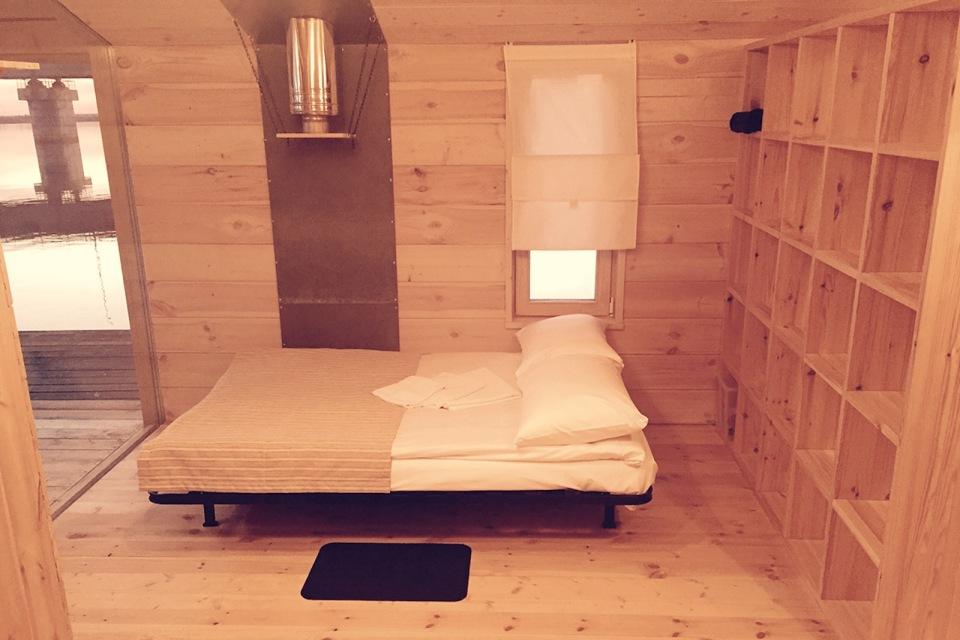 DublDom Houseboat, a modular floating cabin with a 280 sq ft studio floor plan.   www.facebook.com/SmallHouseBliss