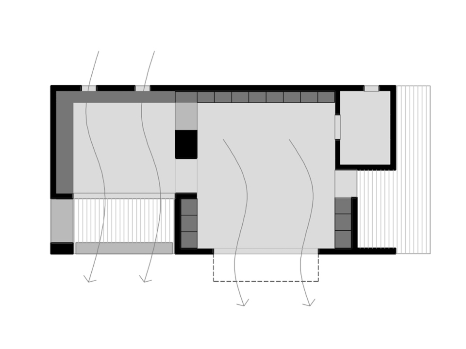 A small energy-efficient house in Spain built with sustainable materials. The 818 sq ft home has a studio floor plan that could be converted to a one-bedroom. | www.facebook.com/SmallHouseBliss