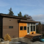 Modern backyard cottage in Seattle with one bedroom and a loft in 650 sq ft.   www.facebook.com/SmallHouseBliss