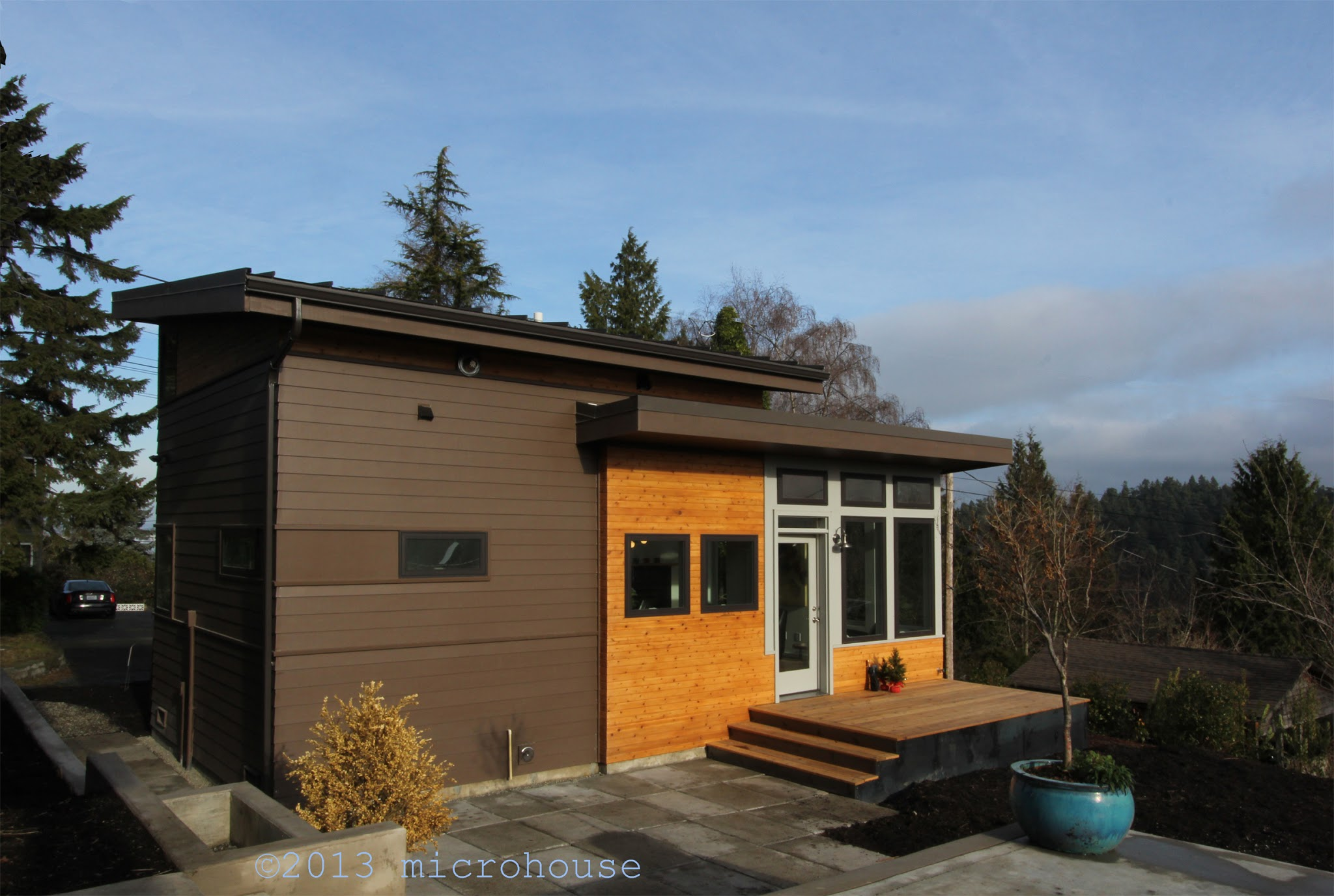 Modern Backyard Cottage In Seattle With One Bedroom And A Loft In 650 Sq Ft.