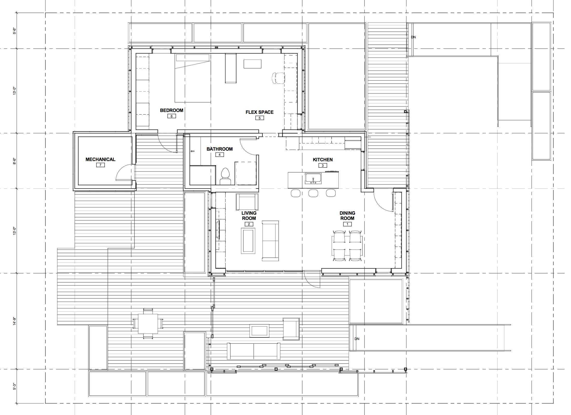 INhouse An Entry At Solar Decathlon 2015 Has A Covering Of Redwood Strips To Floor Plan