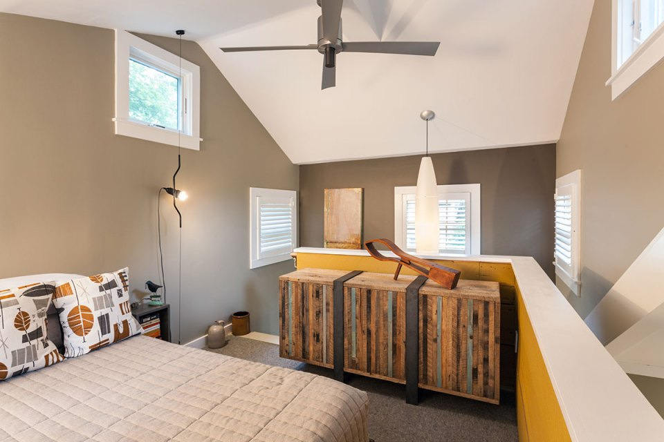 This tiny 1940s summer cottage on Cape Cod was renovated into a year-round retreat with one bedroom in 350 sq ft. | www.facebook.com/SmallHouseBliss