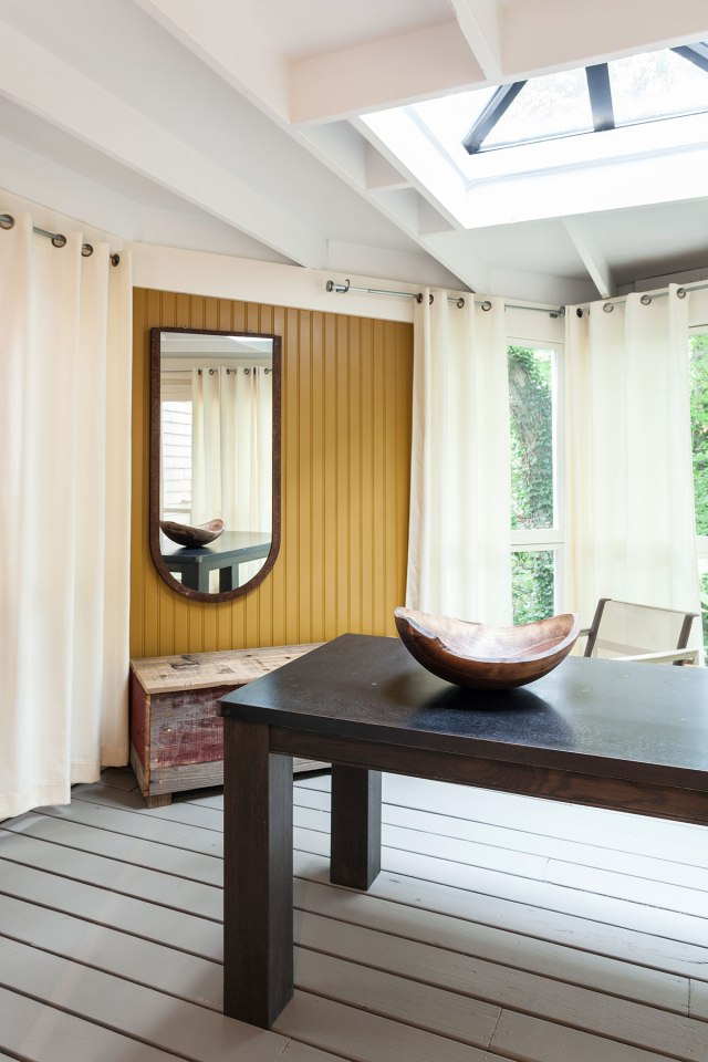 This tiny 1940s summer cottage on Cape Cod was renovated into a year-round retreat with one bedroom in 350 sq ft.   www.facebook.com/SmallHouseBliss