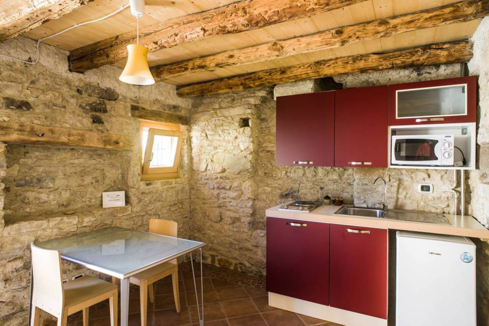The Dairy Cottage, a 19th century cheesemaker's workshop converted into a tiny vacation cottage in Italy. | www.facebook.com/SmallHouseBliss
