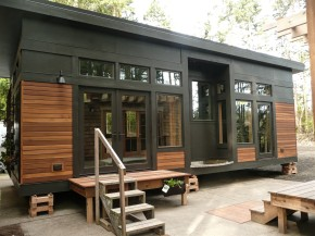 The Waterhaus  a tiny sustainable prefab designed for healthy indoor environment It has modern design Small House Bliss