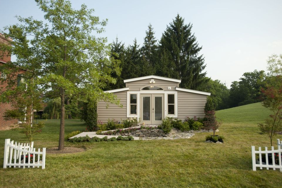 MEDCottage, a tiny house designed for the elderly. The 288 sq ft structure is intended to be placed in a caregiver's backyard. | www.facebook.com/SmallHouseBliss