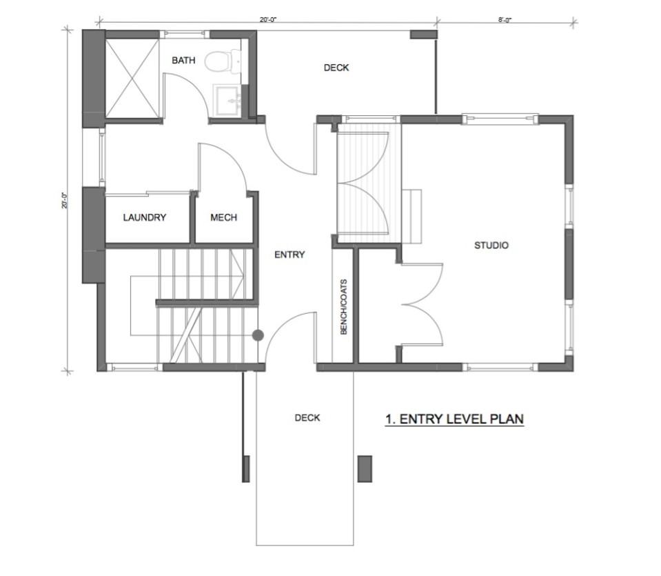 Gallery butcherknife residence workshopl small house for Art studio plans