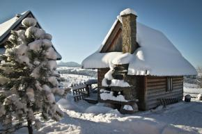 This tiny log cabin provides a snug and romantic retreat for couples. | www.facebook.com/SmallHouseBliss