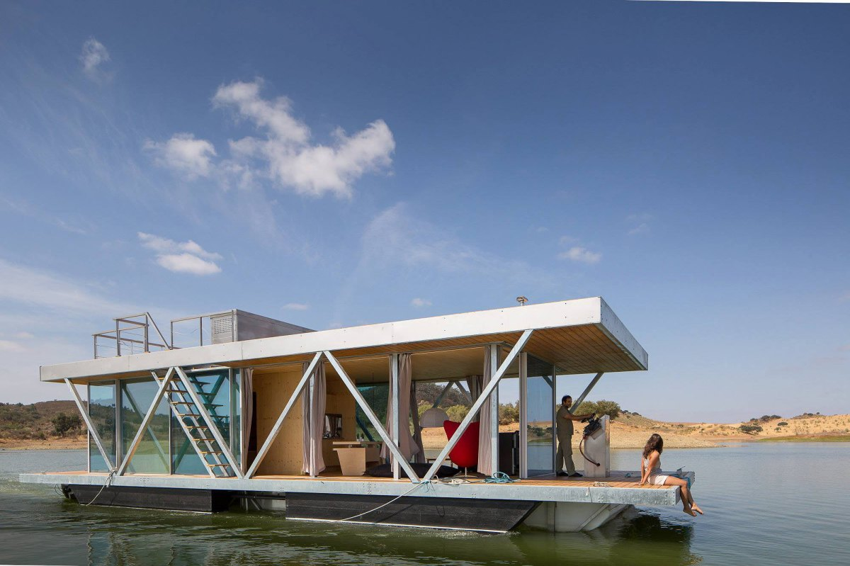 Floating House Plans The Floatwing Houseboat Friday Small House Bliss