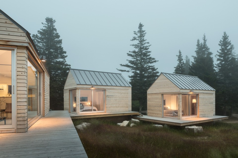 A tiny cabin compound in an old quarry go logic small for House plans maine