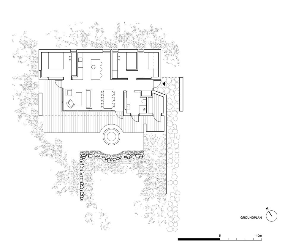 A modern version of the traditional Icelandic turf house, this vacation home blends into the landscape. It has three bedrooms in 1,109 sq ft. | www.facebook.com/SmallHouseBliss
