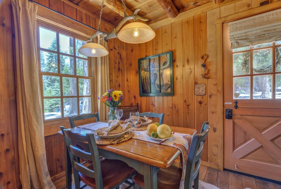 Built in the 1920s, Wildflower Cabin is loaded with vintage charm. It has one bedroom and a loft in 600 sq ft.   www.facebook.com/SmallHouseBliss