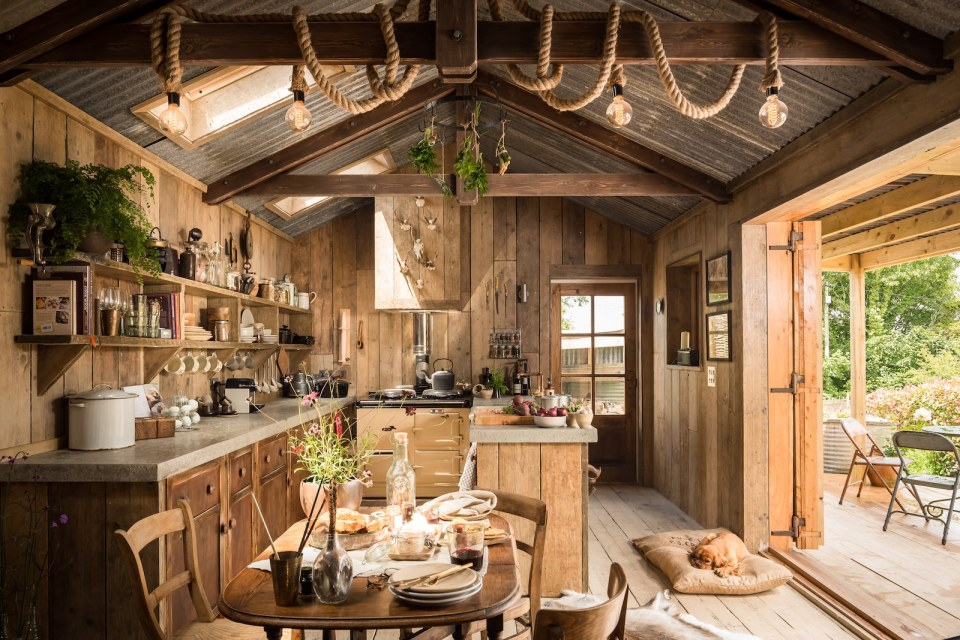 rustic and romantic firefly cabin has the timeworn patina and rough charm of an old