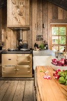 Rustic and romantic, Firefly cabin has the timeworn patina and rough charm of an old carpenter's workshop. | www.facebook.com/SmallHouseBliss