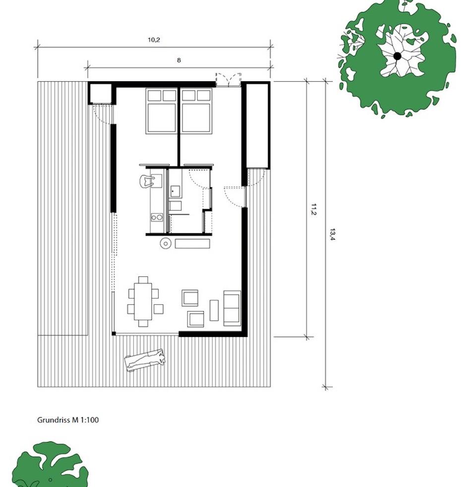 Gallery sommerhaus piu patrick frey bj rn g tte for Summer house floor plans