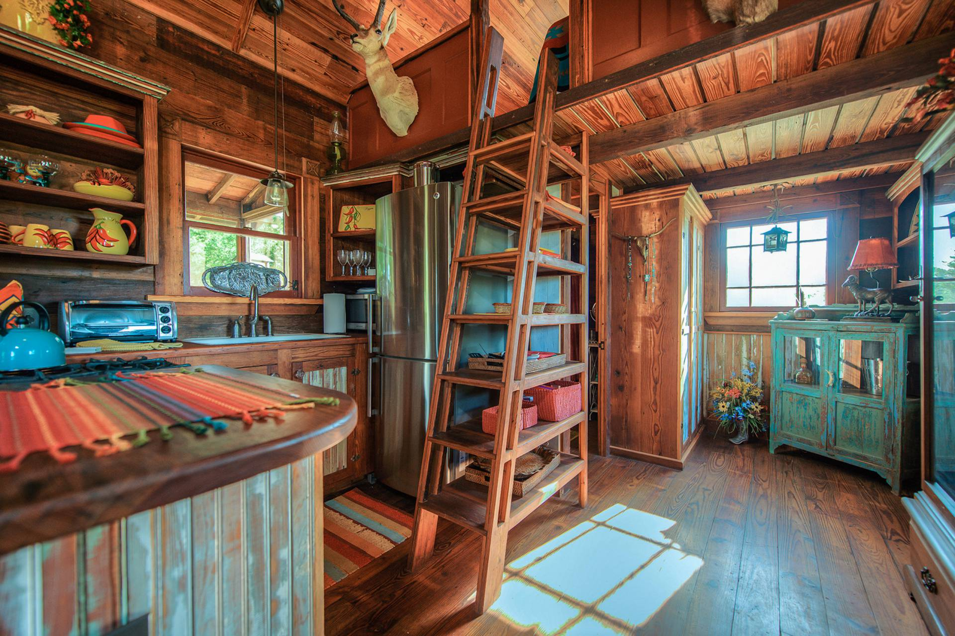 The Rustic Cowboy Cabin Was Built From Salvaged Materials 12x28
