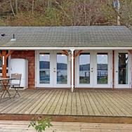 This breezy beach cottage was renovated from an old-timer fishing cabin. It has a 336 sq ft studio floor plan. | www.facebook.com/SmallHouseBliss