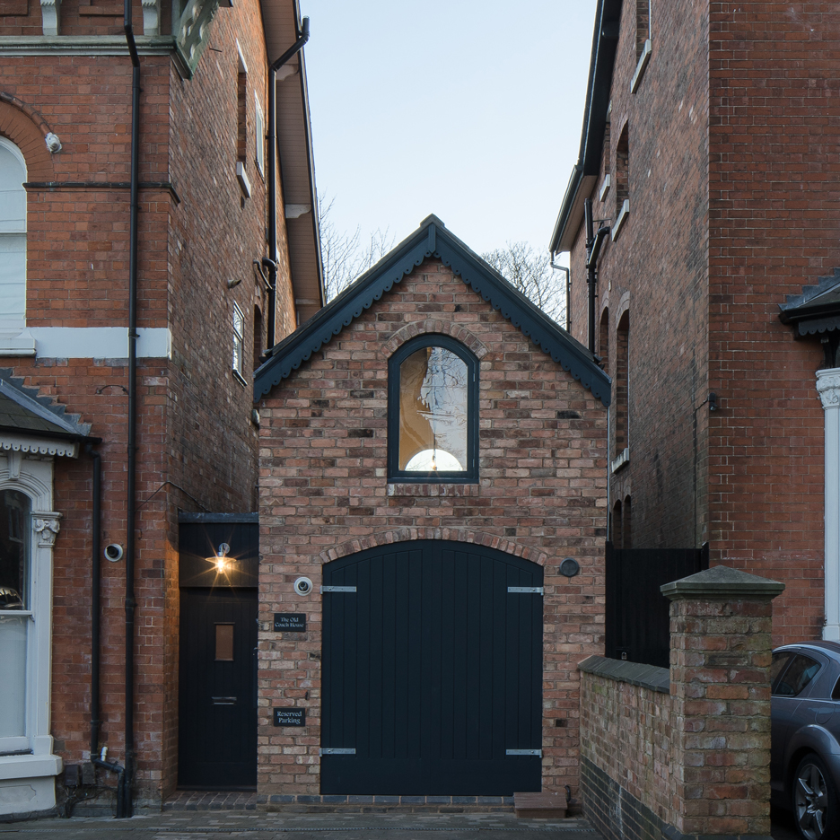 This Victorian-era brick coach house was converted into an inspiring home and studio for a writer.   www.facebook.com/SmallHouseBliss