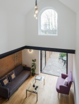 This Victorian-era brick coach house was converted into an inspiring home and studio for a writer. | www.facebook.com/SmallHouseBliss